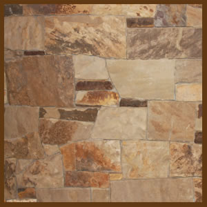 Indian Ricegrass dry stacked thin veneer stone